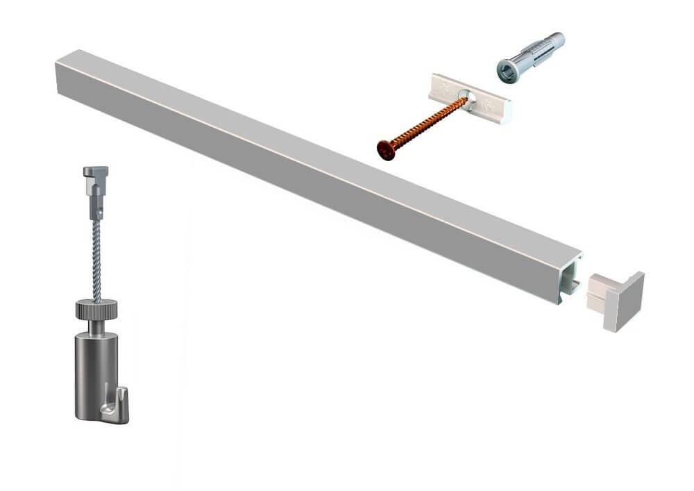 KIT contour-rail ALU ACIER - cimaise
