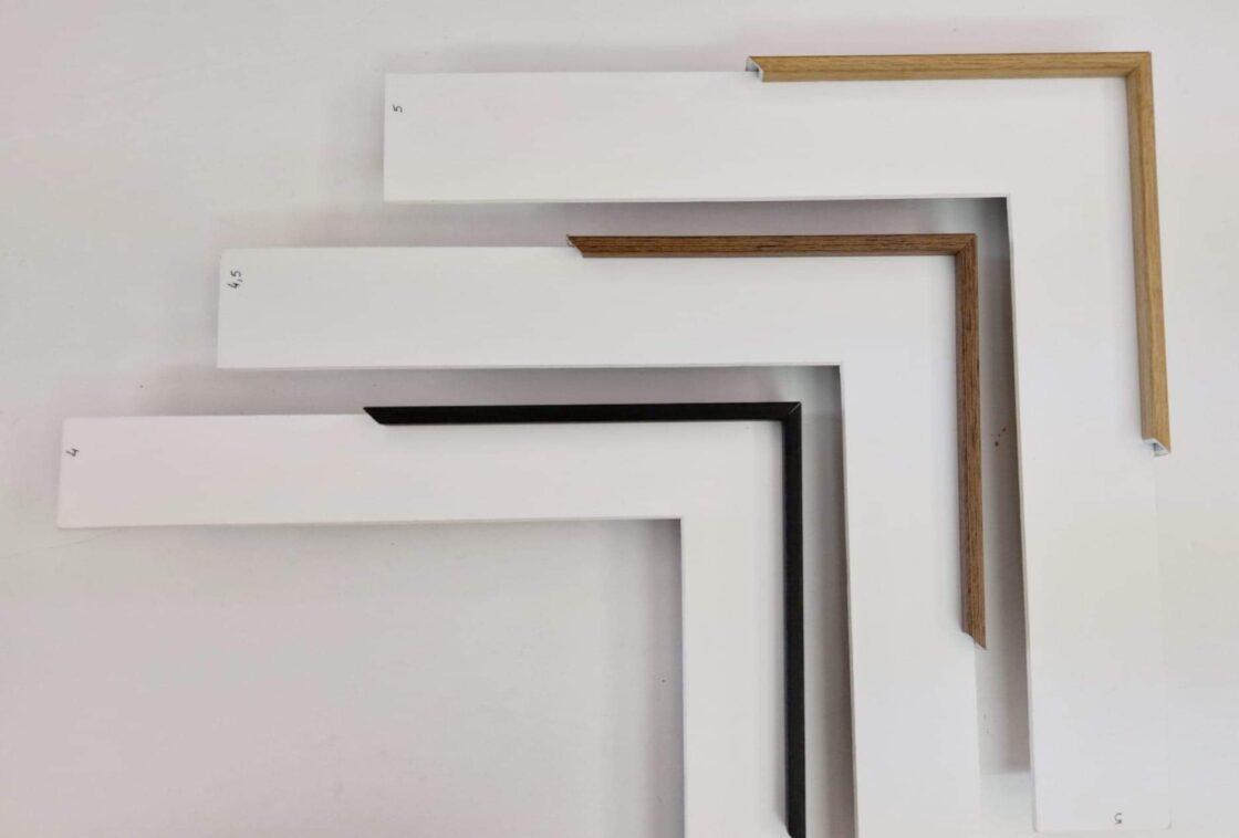 encadrement-baguette-aluminim-fine-exemples-plaqués-bois